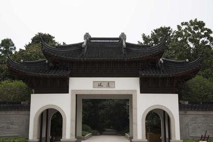 Древна китайска градина архитектура врата