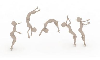 Gymnastics Backflip bip 3ds Max Motion
