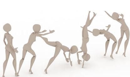 Forward Somersault Handspring Gymnastics bip 3ds Max Motion