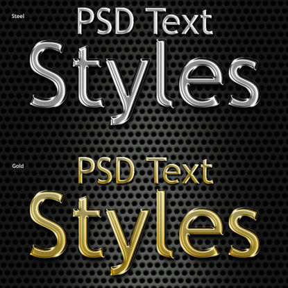Immagine di Design Font in Metallo PS Photoshop Style Steel
