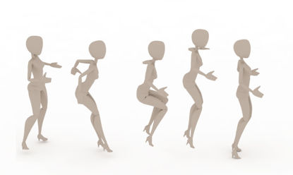 Team Rope Skipping bip 3ds Max Motion