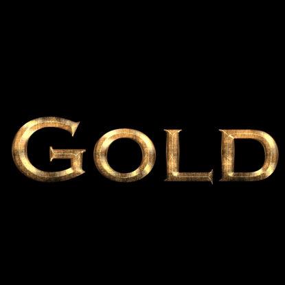 واقعية القذرة الذهب بس نمط طبقة الخط