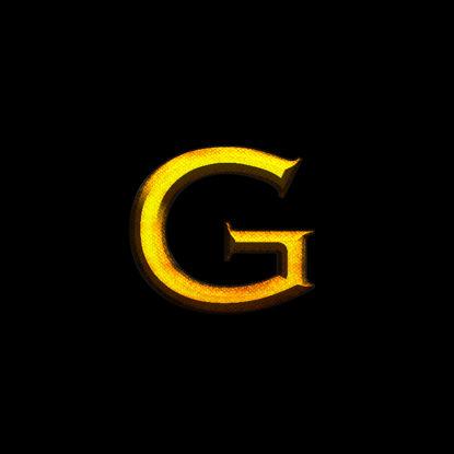 واقعية الذهب بس نمط طبقة الخط