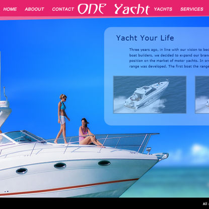 Yacht Home Page Website Vorlage