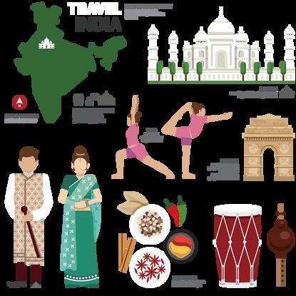 Immagine di Elementi caratteristici turistici dell'India