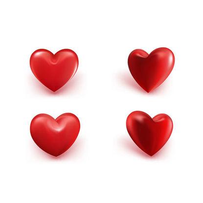 3d Color Heart AI Vector Shape
