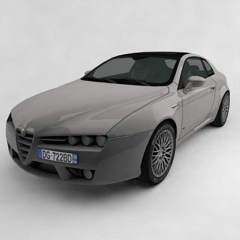 Alfa Romeo Brera 3d modeli resmi