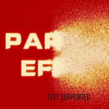 AEパーティクルエフェクトPhotoビデオテキストをパーティクルVFXに