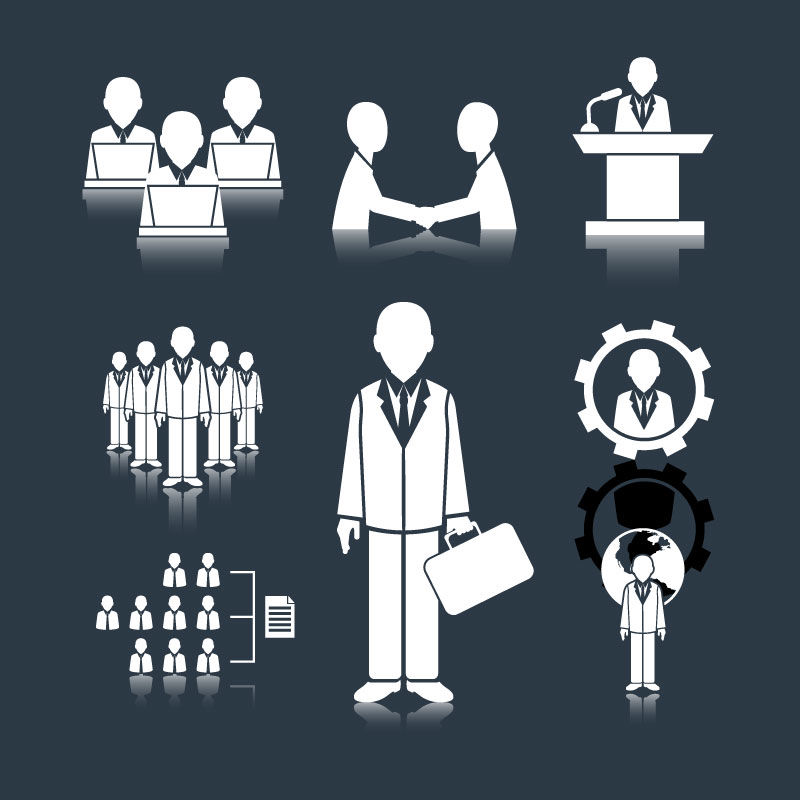 Иконка Бизнес встречи AI вектор