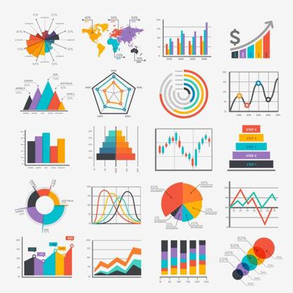 Diagramma di statistica AI Vector