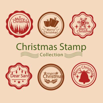 Christmas Stamps AI vector