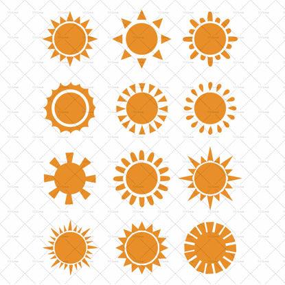 图片 Sun icon vector
