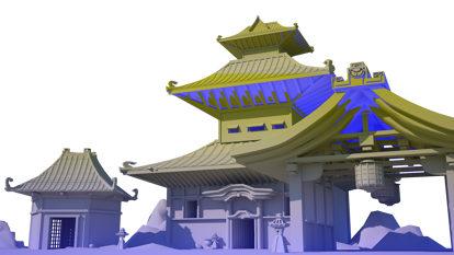 Ancient Chinese building  3d model