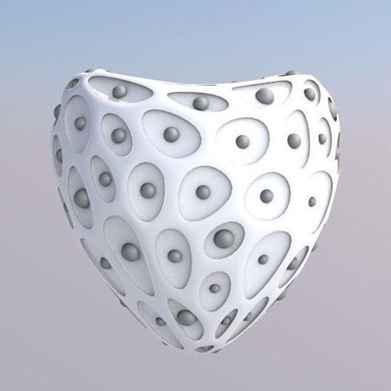Beating heart 3d model