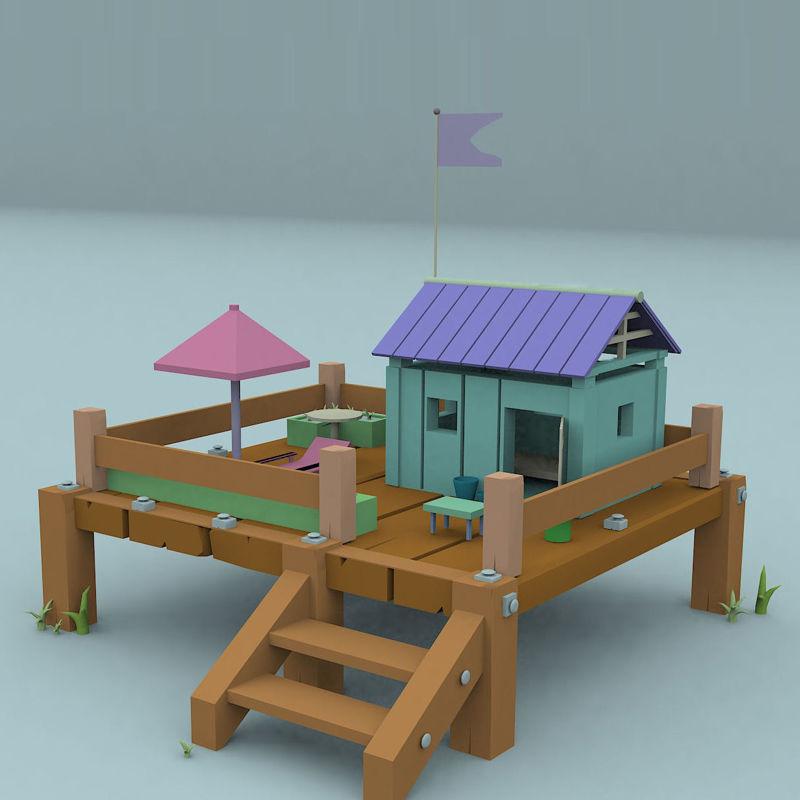 Cute home land 3D model
