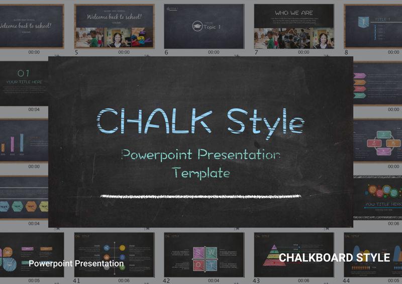 Chalkboard Style Power Point Presentation Templates