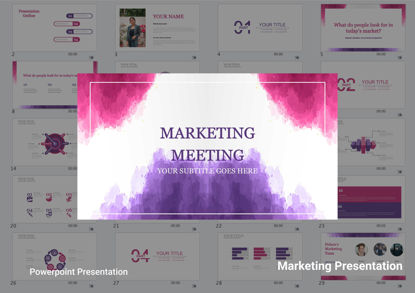 Marketing Meeting Power Point Presentation Template