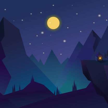Moonlight night illustration background