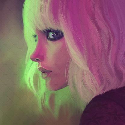 Atomic blond portrait