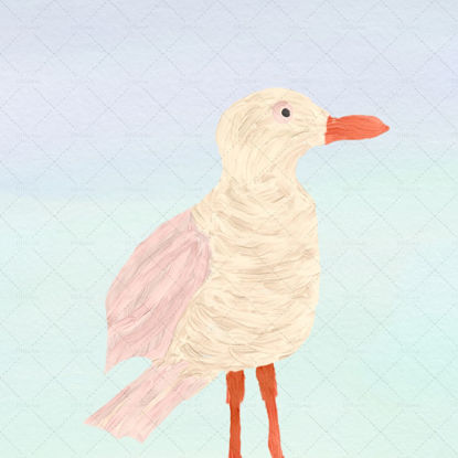 Sweet seagull painting