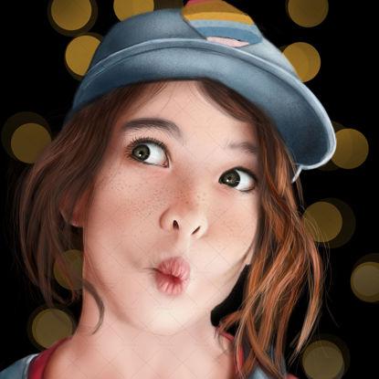 Digital portrait painting service