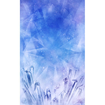 Healing illustration of tanzanite