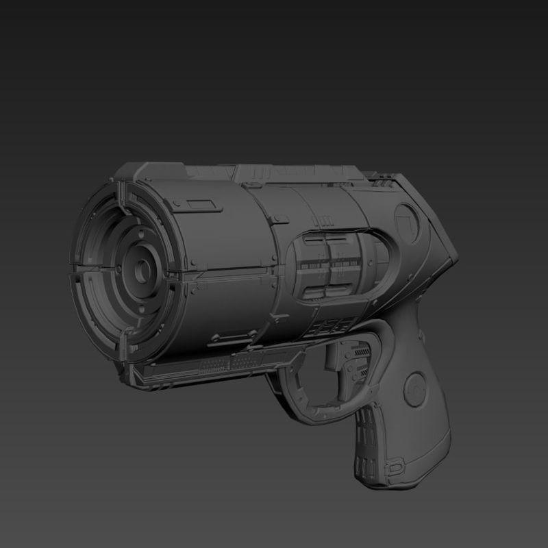 Sci-fi laser gun 3d model