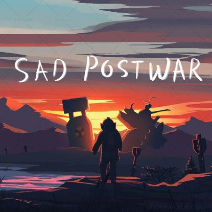 War scene illustration poster psd