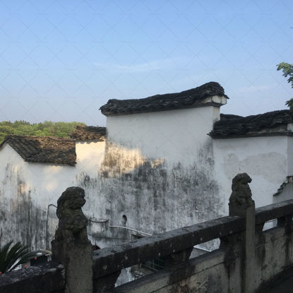 Chinese architecture ancient building Chinese wall Chinese style roof