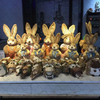 Mr. Rabbit Rabbit Lady Hedgehog Owl Handicraft