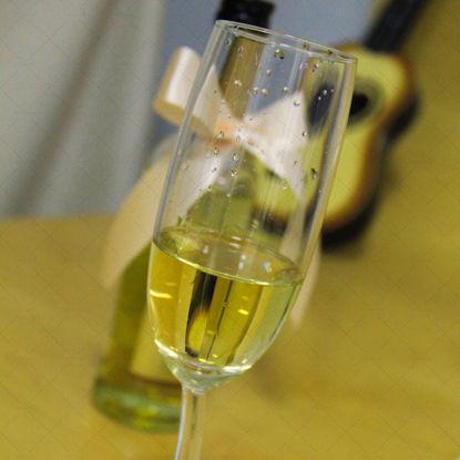Champagne glass golden champagne