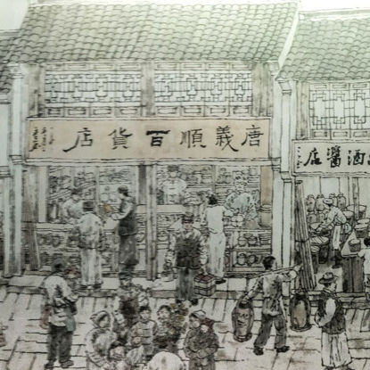 Ancient Chinese Ming and Qing Street Scenery Paintings