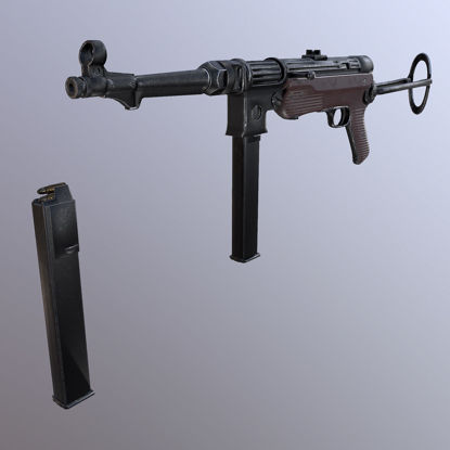Submachine gun mp 38 40 3d model