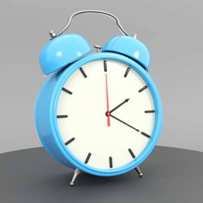 Simple Alarm Clock 3d model