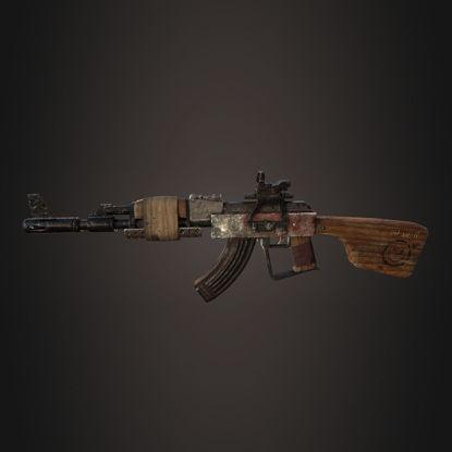 PBR Apocalyptic AK-47 3d model