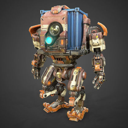 PBR Container Mech Robot 3d model