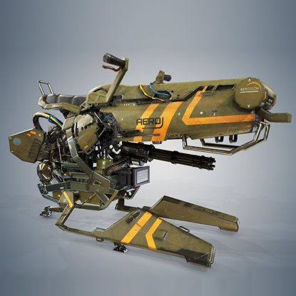 PBR Hover Bike Version 3d model