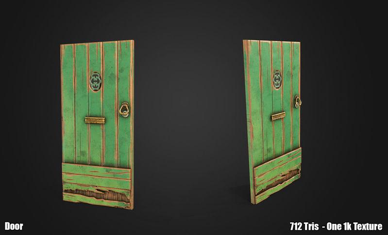 PBR Stylized Door 3d model