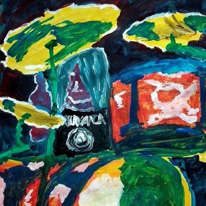 Drummer gouache painting