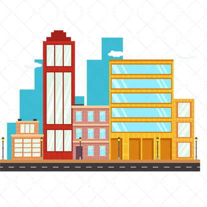 City building illustration