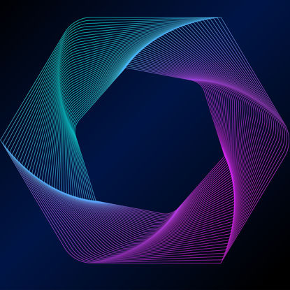 Stereo gradient color lines vector