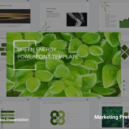 Clean green Energy PowerPoint Templates