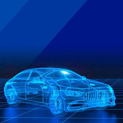 Technology sense car line drawing