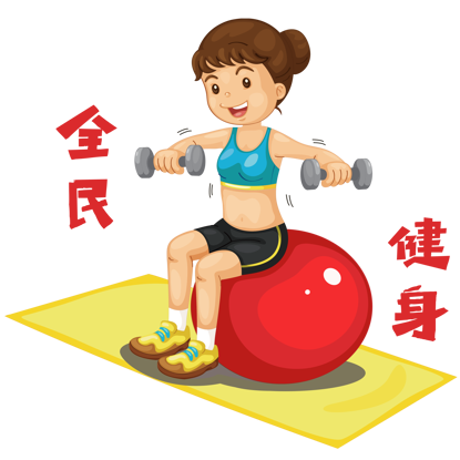 Lose weight fitness illustration