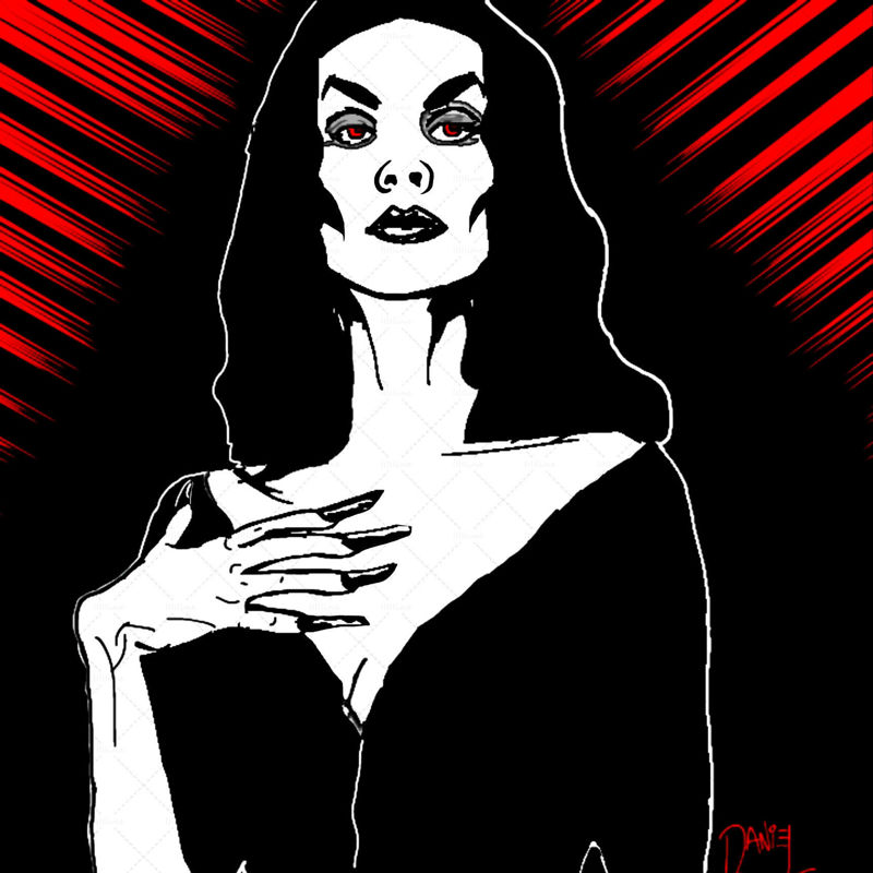 Vampira illustration