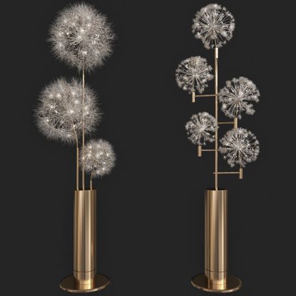 floor lamp set 3d model
