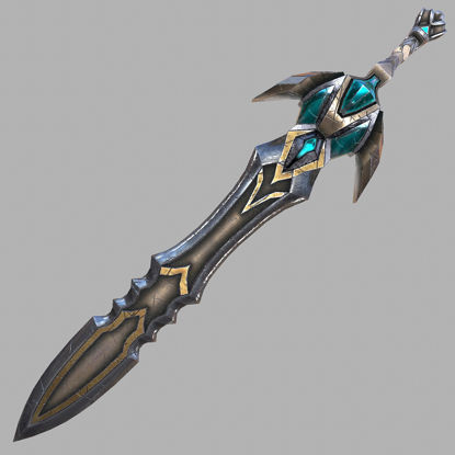 Fantasy sword 23 3d model