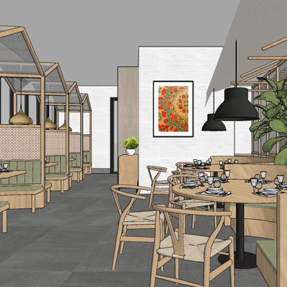Restaurant sketchup 3D model