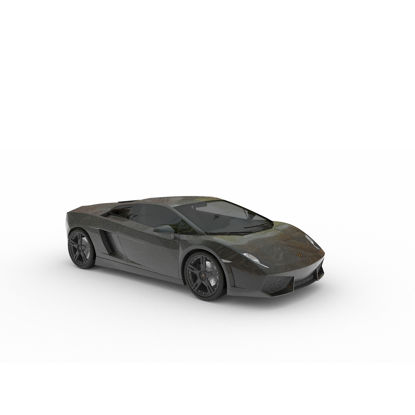 Lamborghini sports car 3D model 02
