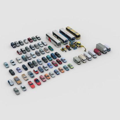 Car 3d model set
